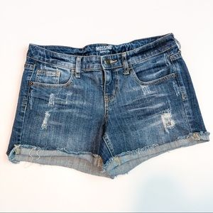 Mossimo Mid-Rise Cutoff Jean Shorts Size 9